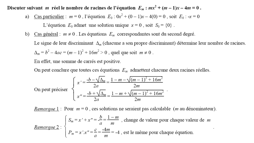 1s Sequence 7 Second Degre Equations
